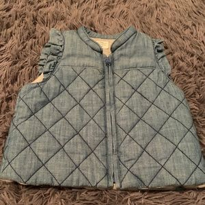 Baby gap chambray quilted vest